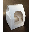 White Single Cup Cake Taper Top Packaging