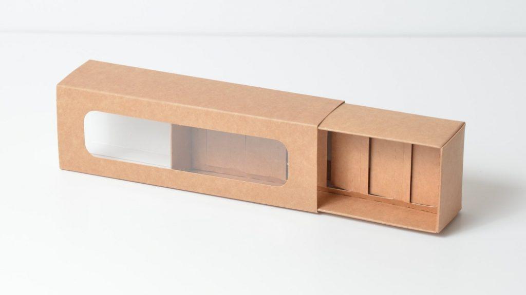 Kraft 6 Pk Slider Macaron Box