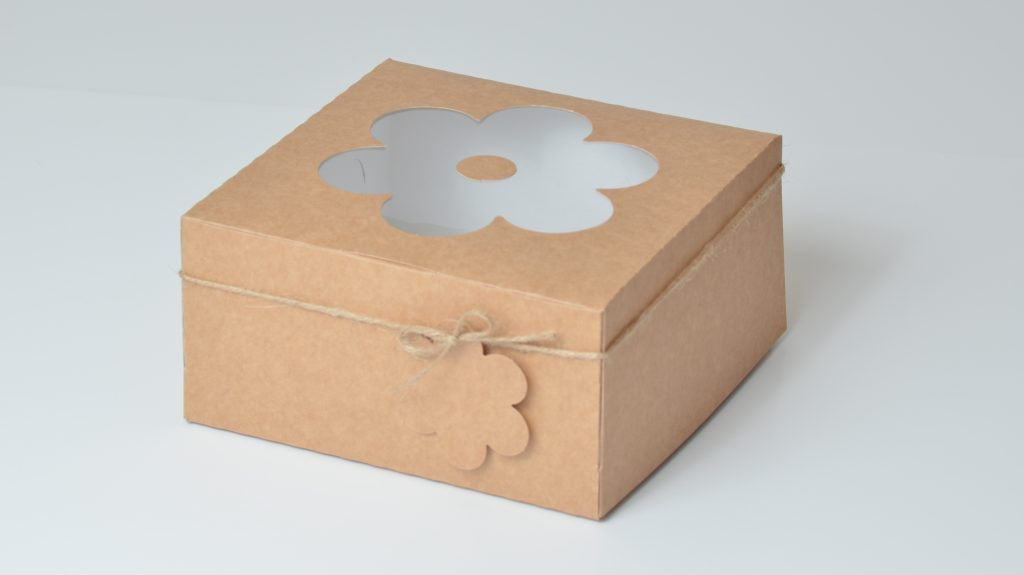 Kraft Deep Daisy 4 Pack Cup Cake Box