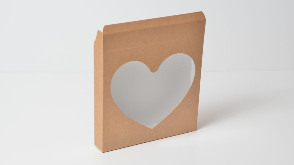 Heart Windowed Cookie Box