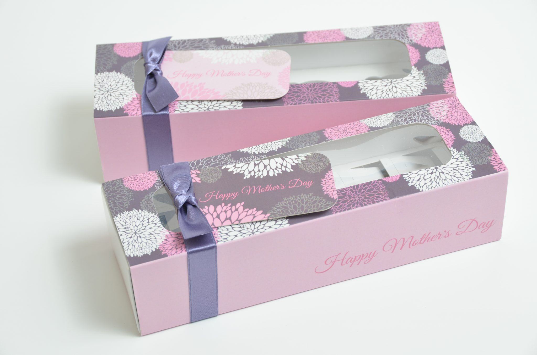 Mothers Day Windowed Pink 6 Pk Slider Macaron Box