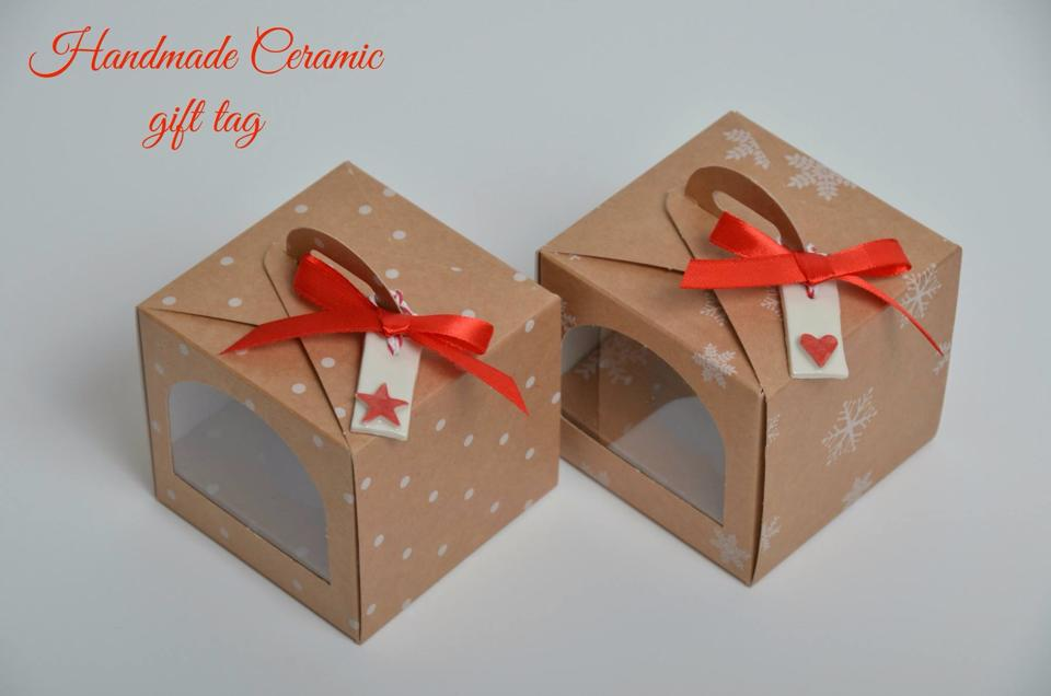 Christmas Dot/Snowflake Single Cup Cake Box