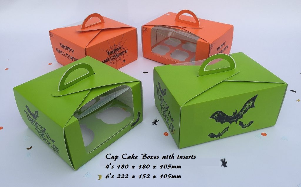 Halloween EcoDome Cup Cake Boxes 4's & 6's