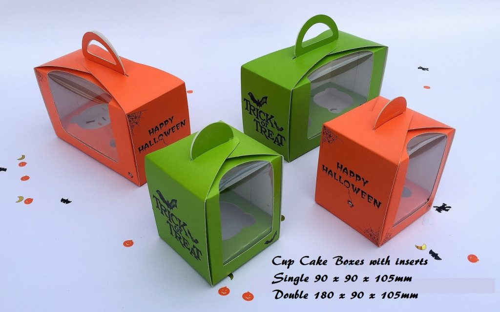 Halloween EcoDome Cup Cake Boxes Single & Doubles