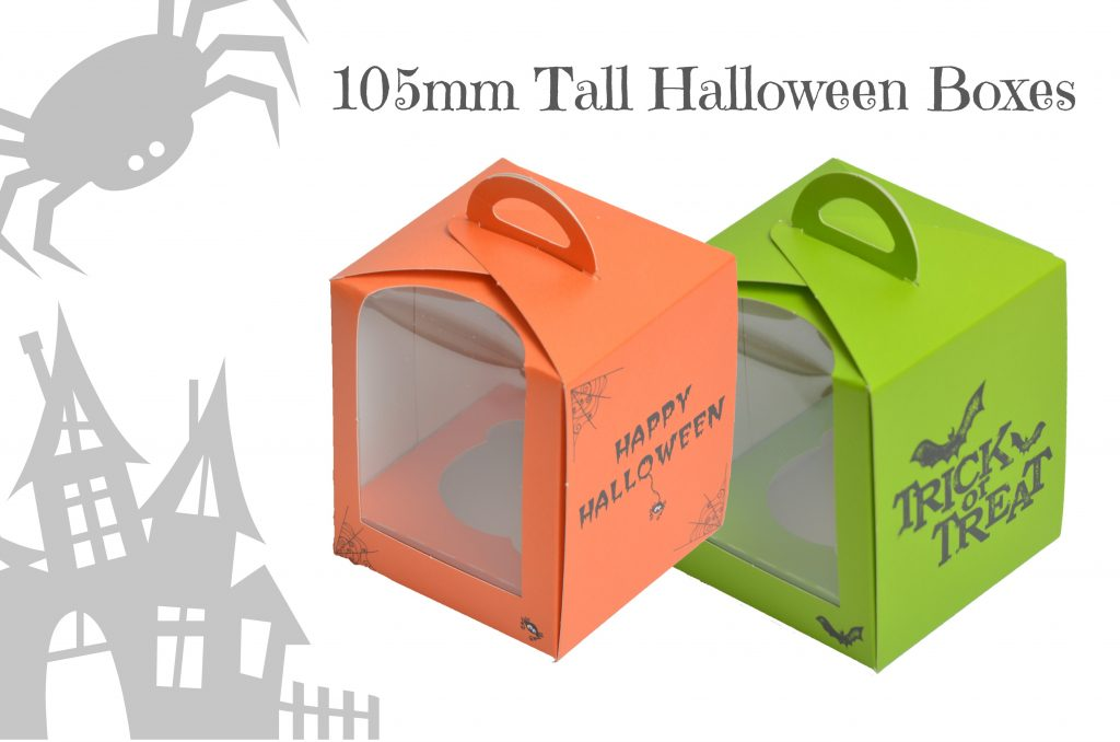 Halloween Orange/Green Single Cup Cake Boxes