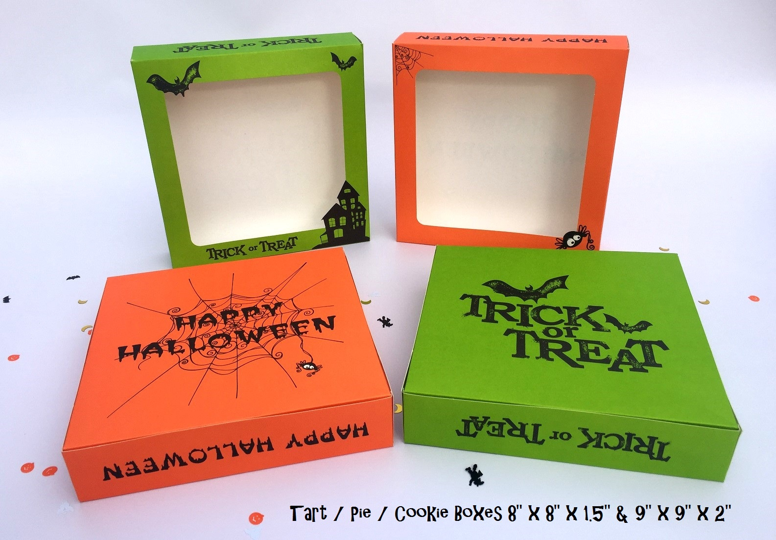Halloween Tart Boxes available in two sizes