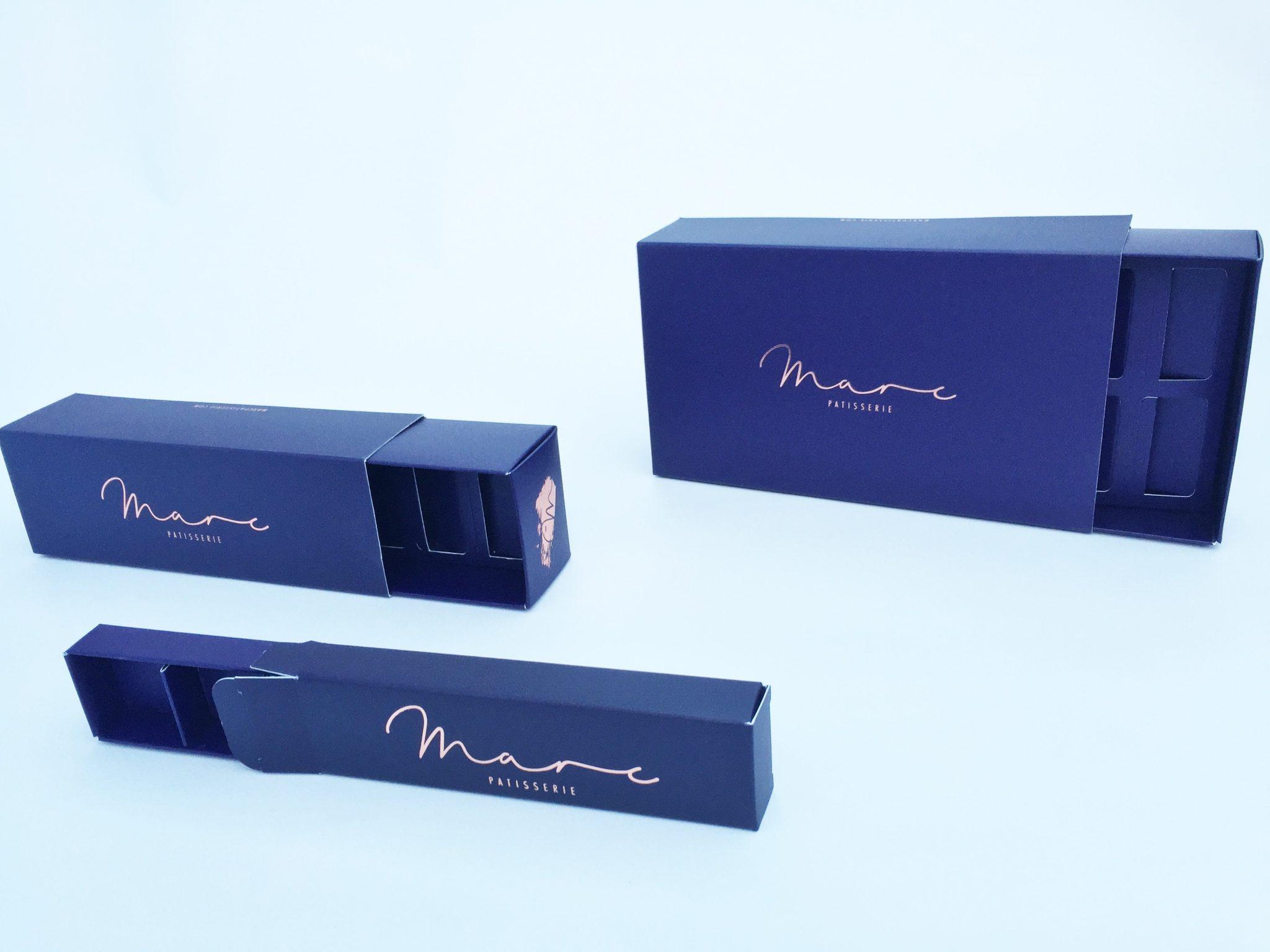 Bespoke Print & Foiled 12 & 6 Pack Macaron & 4 Pack Truffle Box