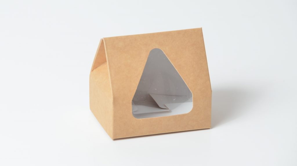 Taper Top Small Fudge Box with Triangular Window
