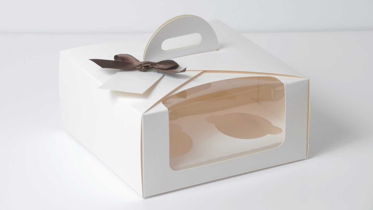 White 4 Pack Eco Dome Cup Cake Box