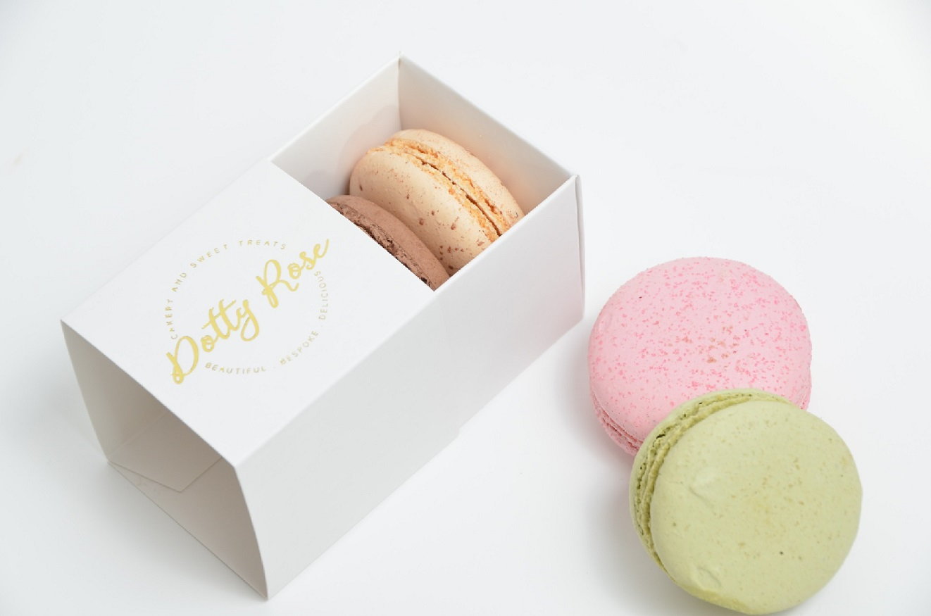 2 Pack Macaron Box with Bespoke Foiling
