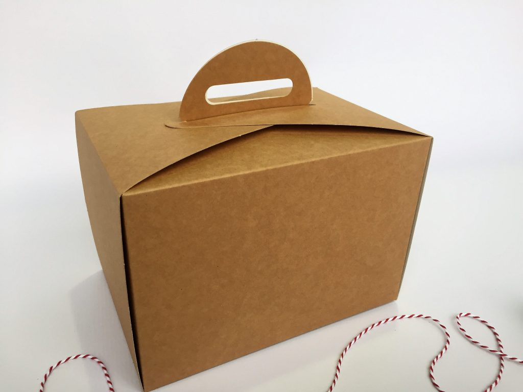 Large Kraft Cake Carrier Box