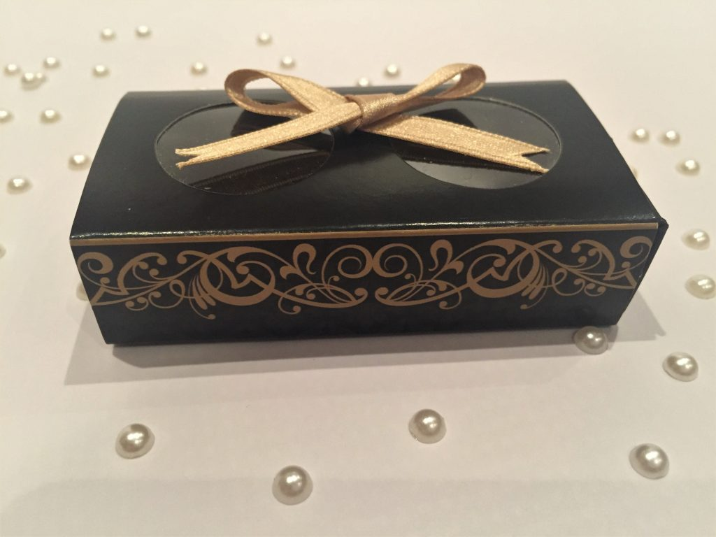 Black & Gold 2 Pack Chocolate Box with window