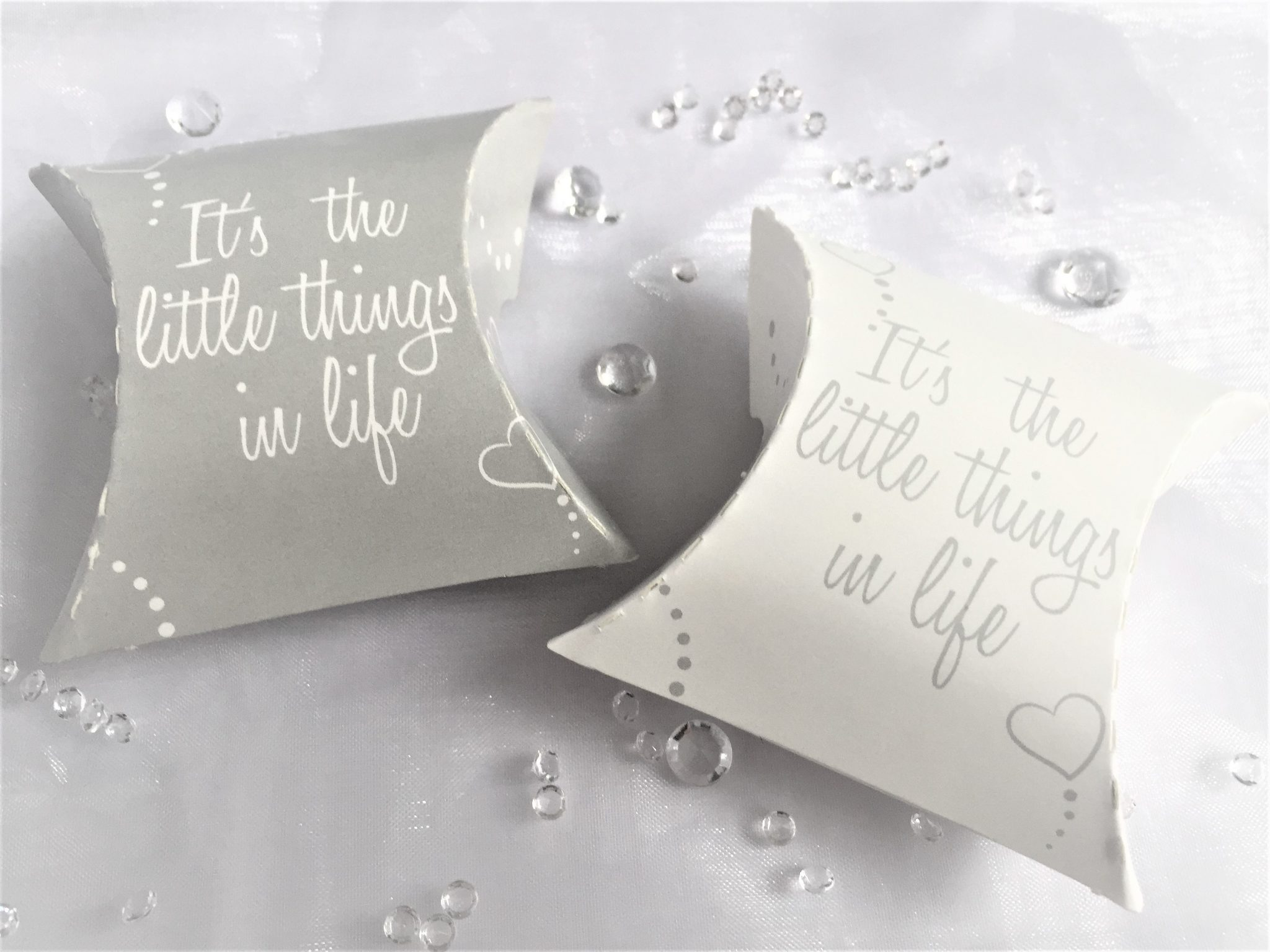 "Generic Print ""It's the Little Things in Life"" Pillow Packs Grey/White"