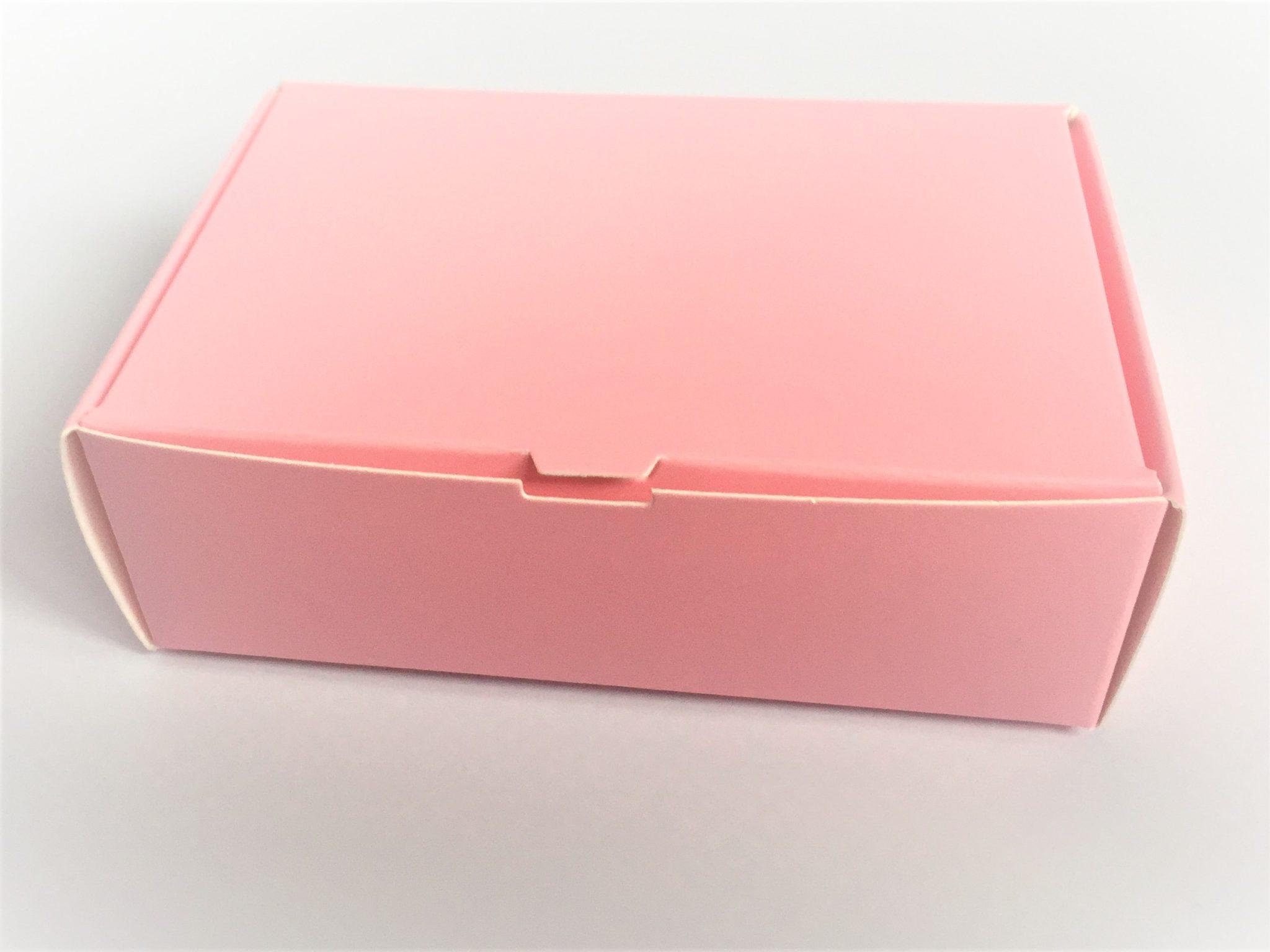 Sample Cake Slice Box in Pink
