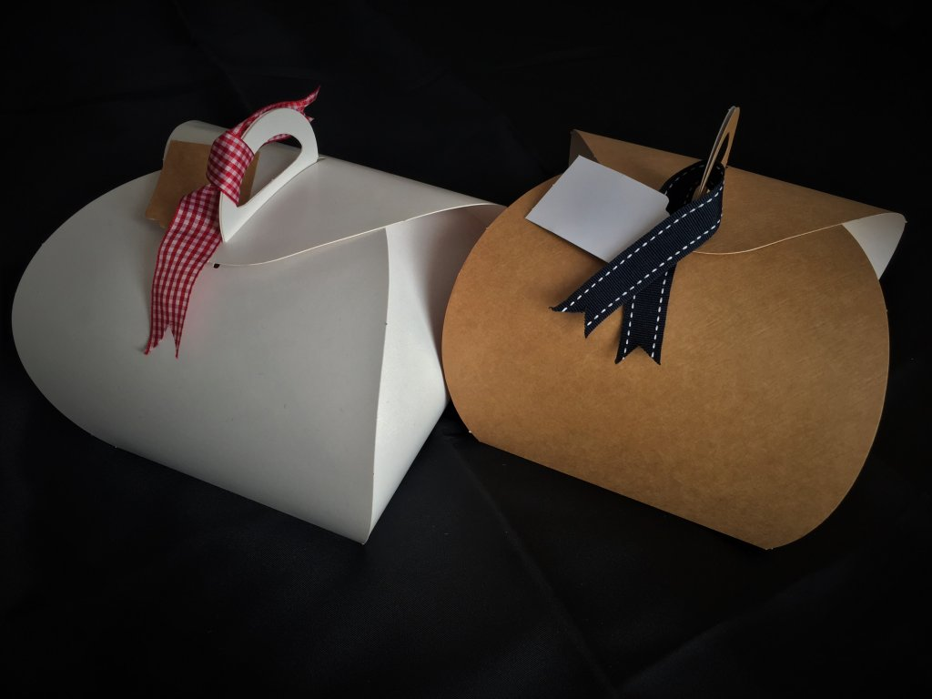 Plain White & Kraft Patisserie Boxes
