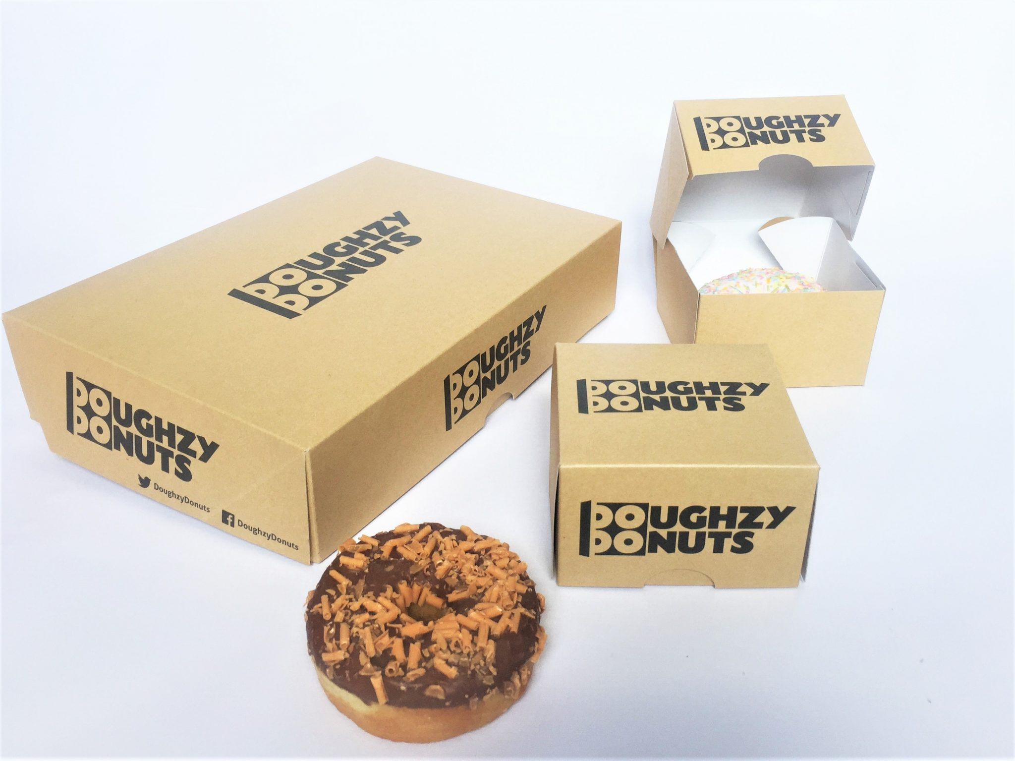 Bespoke Print Single & 6 Pack Donut Boxes