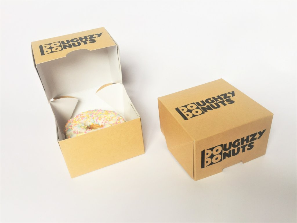 Bespoke Print Single Donut Box