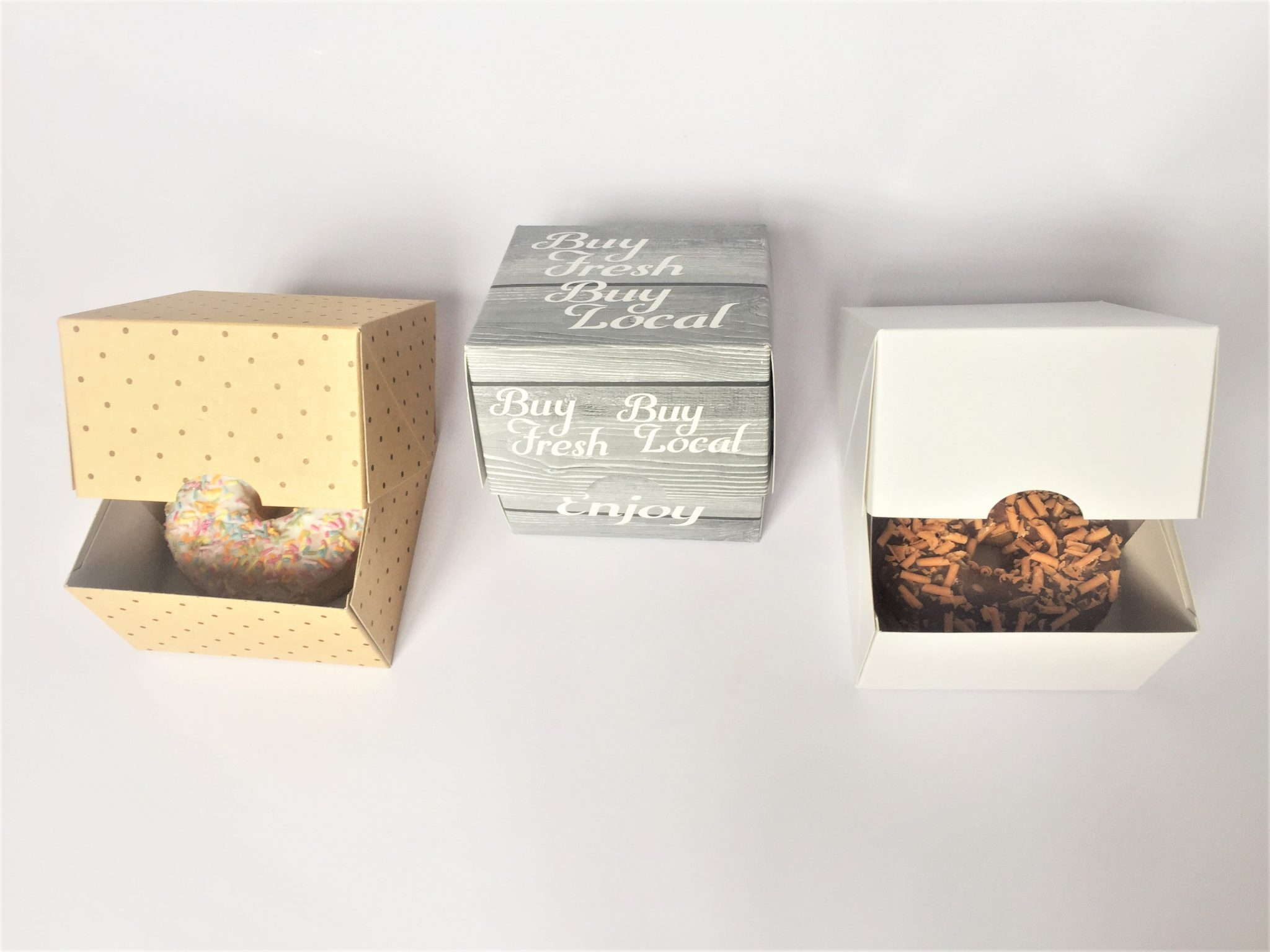 Generic Print & Plain Single Pack Donut Boxes