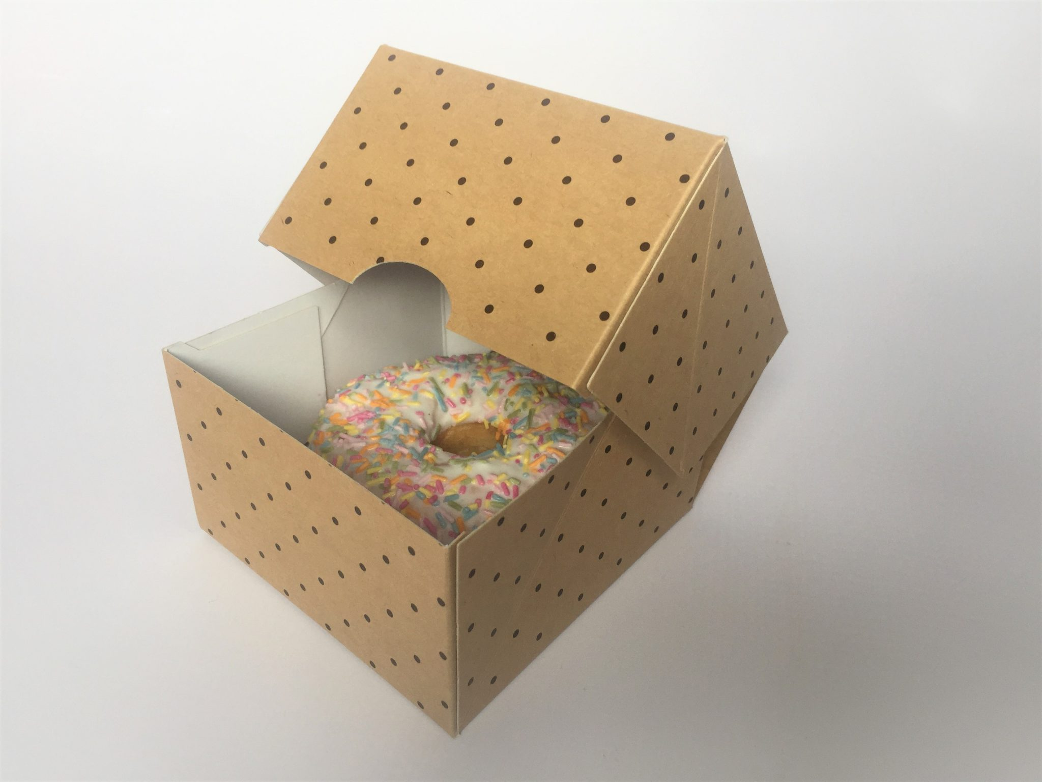Generic Print Single Donut Box in Kraft GP-DB1