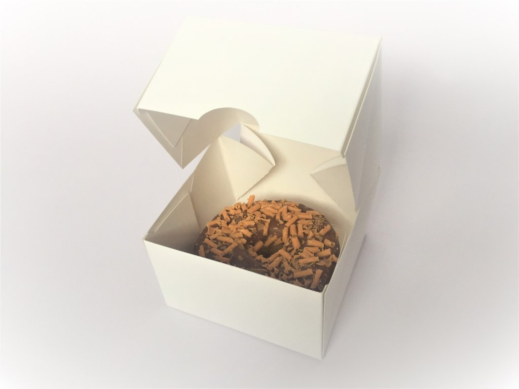 Plain White Single Pack Donut Boxes W-DB1