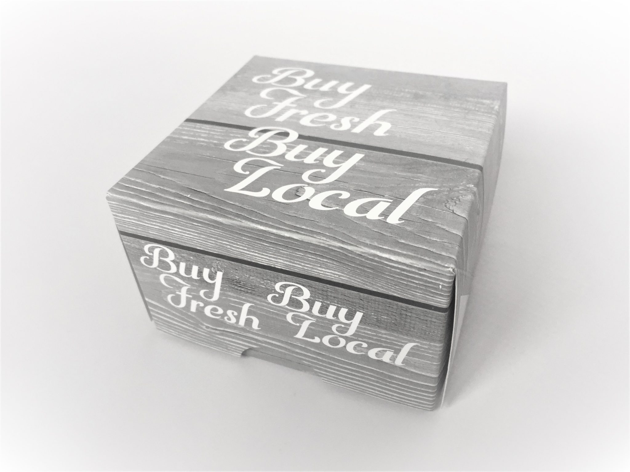 "Home Grown Range ""Buy Fresh Buy Local"" Single Donut Box GP-DB1"