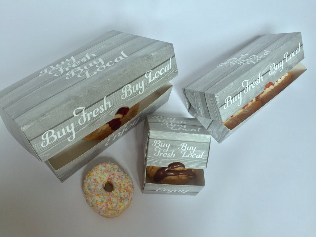 "Home Grown Range ""Buy Fresh Buy Local"" Single, 3 & 6 Pack Donut Boxes"