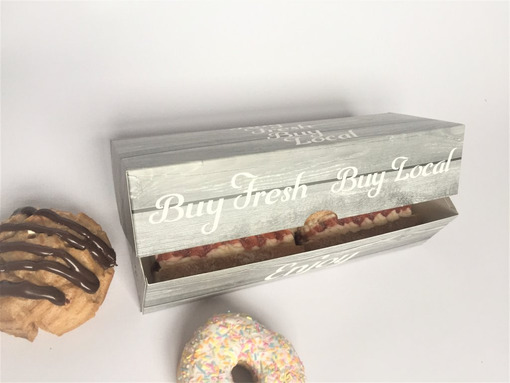 "Home Grown Range ""Buy Fresh Buy Local"" 3 Pack Donut Box"