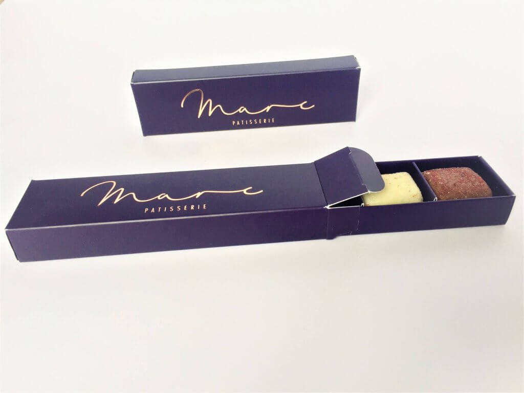 Bespoke Print & Foiled Chocolate Box, Base & Tuck End Sleeve