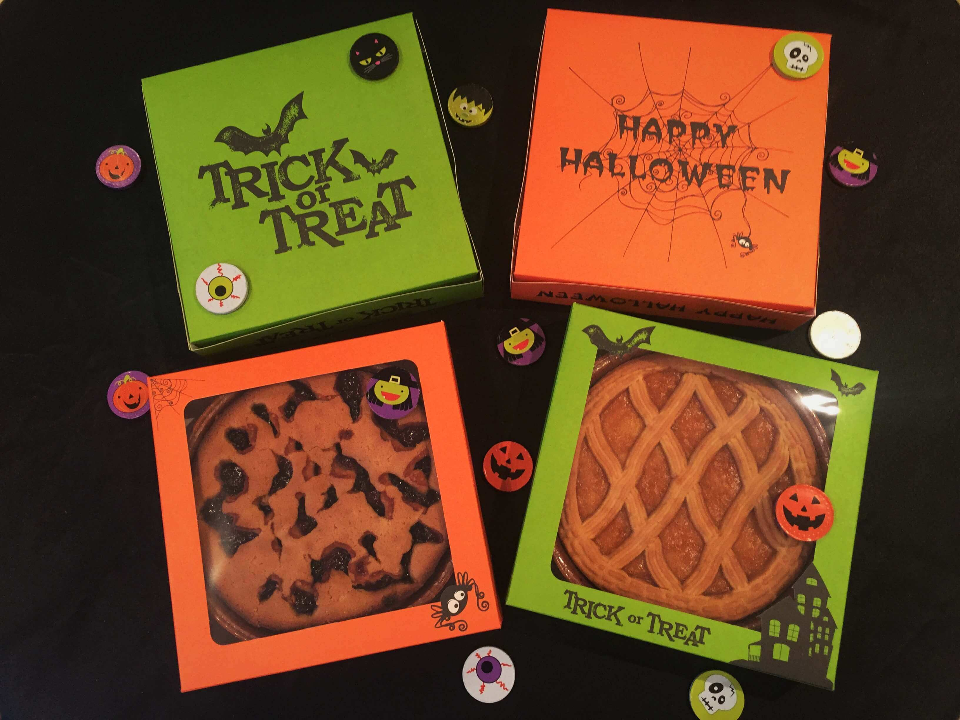 "Halloweeen Pop Up Trick or Treat Tart/Pie/Cookie Boxes 8 x 8 x 1.5"" & 9 x 9 x 2"""