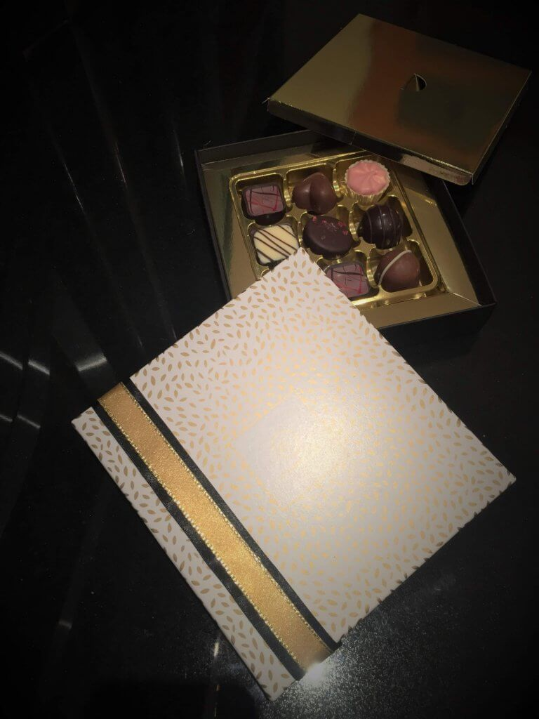 Bespoke Printed Base & Lid Chocolate Box with 9 cavity insert & dust cover