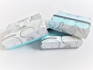 6 Pack Heart Design Base & Lid Chocolate Box