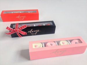 Long 4 Pack Truffle Marshmallow Soap Candle Base & Sleeve Foiled Always Box