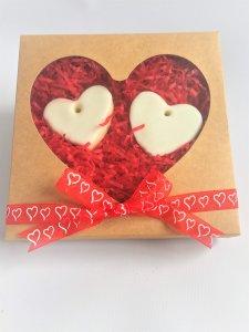 Heart Window Large Cookie Kraft Box Valentines