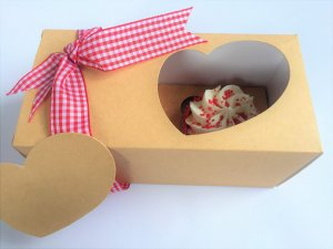 Kraft Pure Heart Double Cup Cake Bath Bomb Box