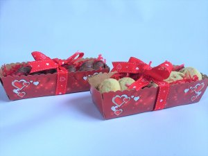 Valentines Heart Tapered Trays