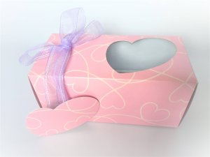 pink pure heart cup cake 2 pack box