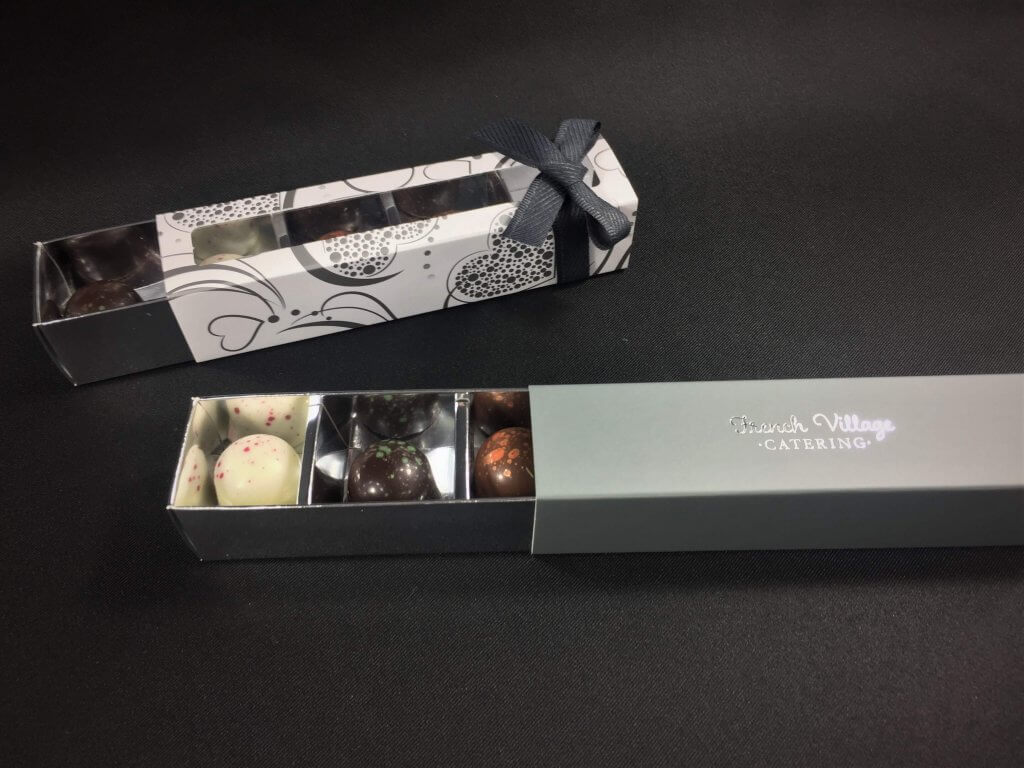 4 Pack Long Truffle Box with generic & bespoke printing