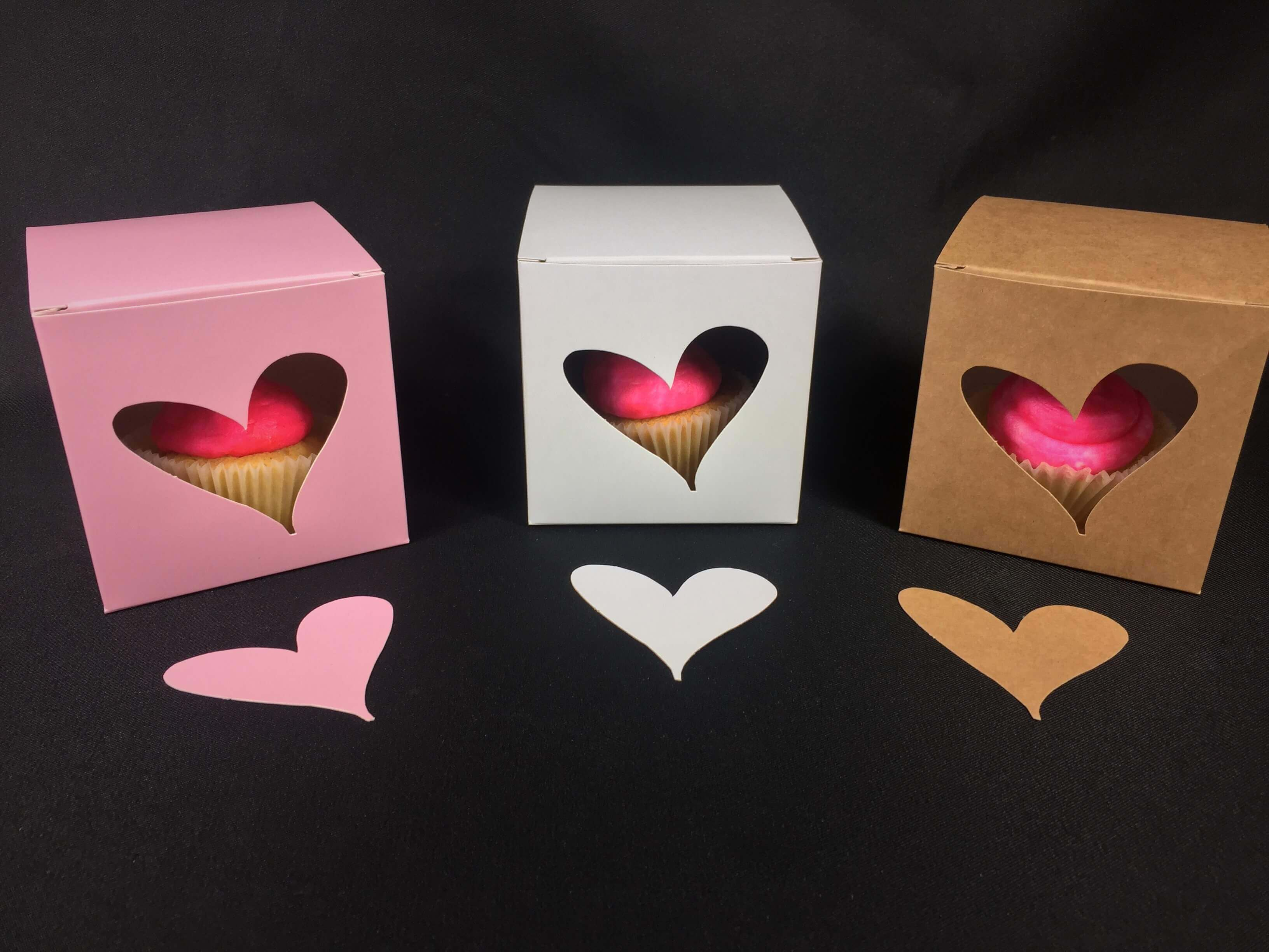 Quirky Heart Window Cube Box available in variety of colours
