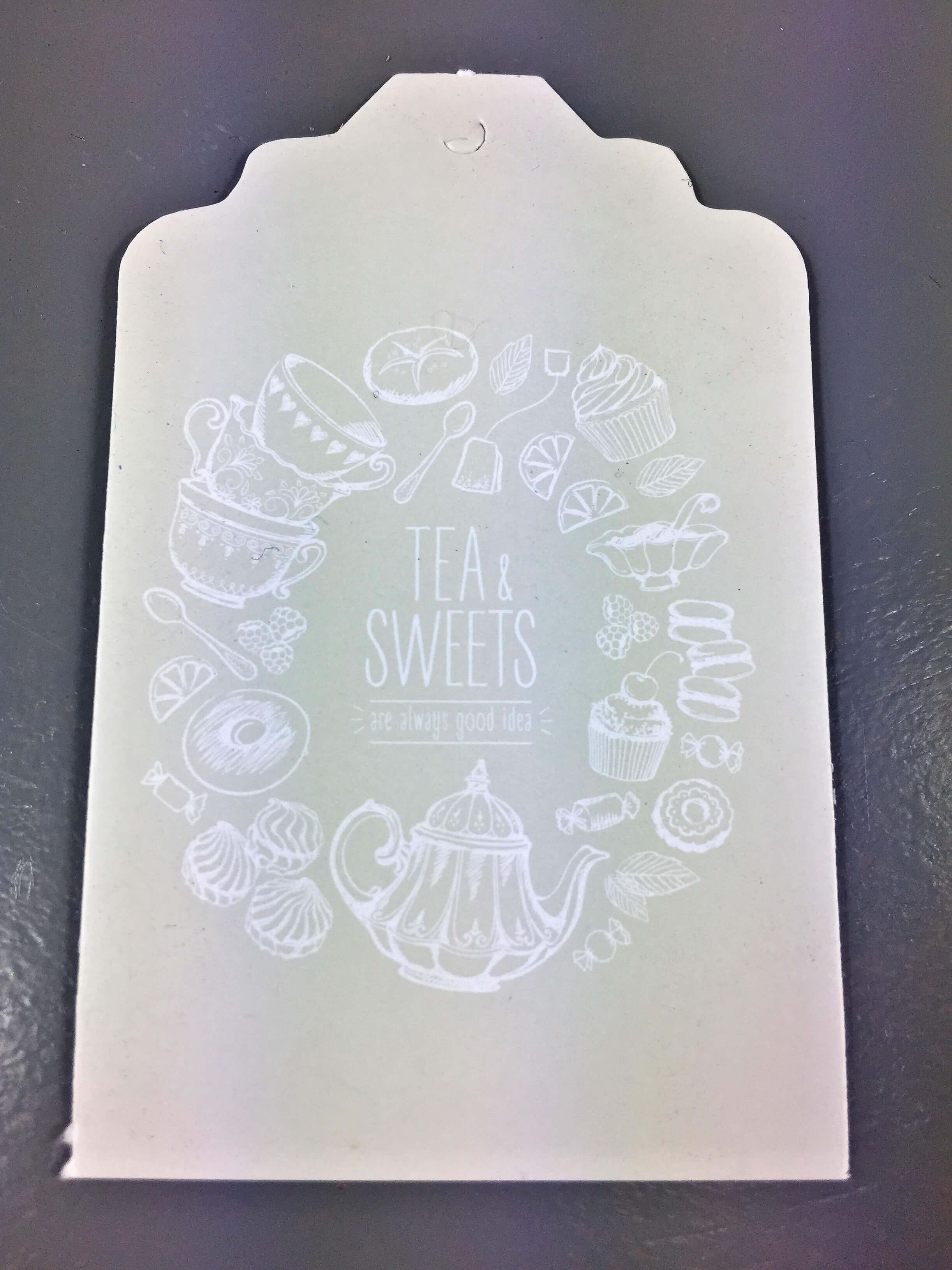 Tea & Sweets - Beige with white text