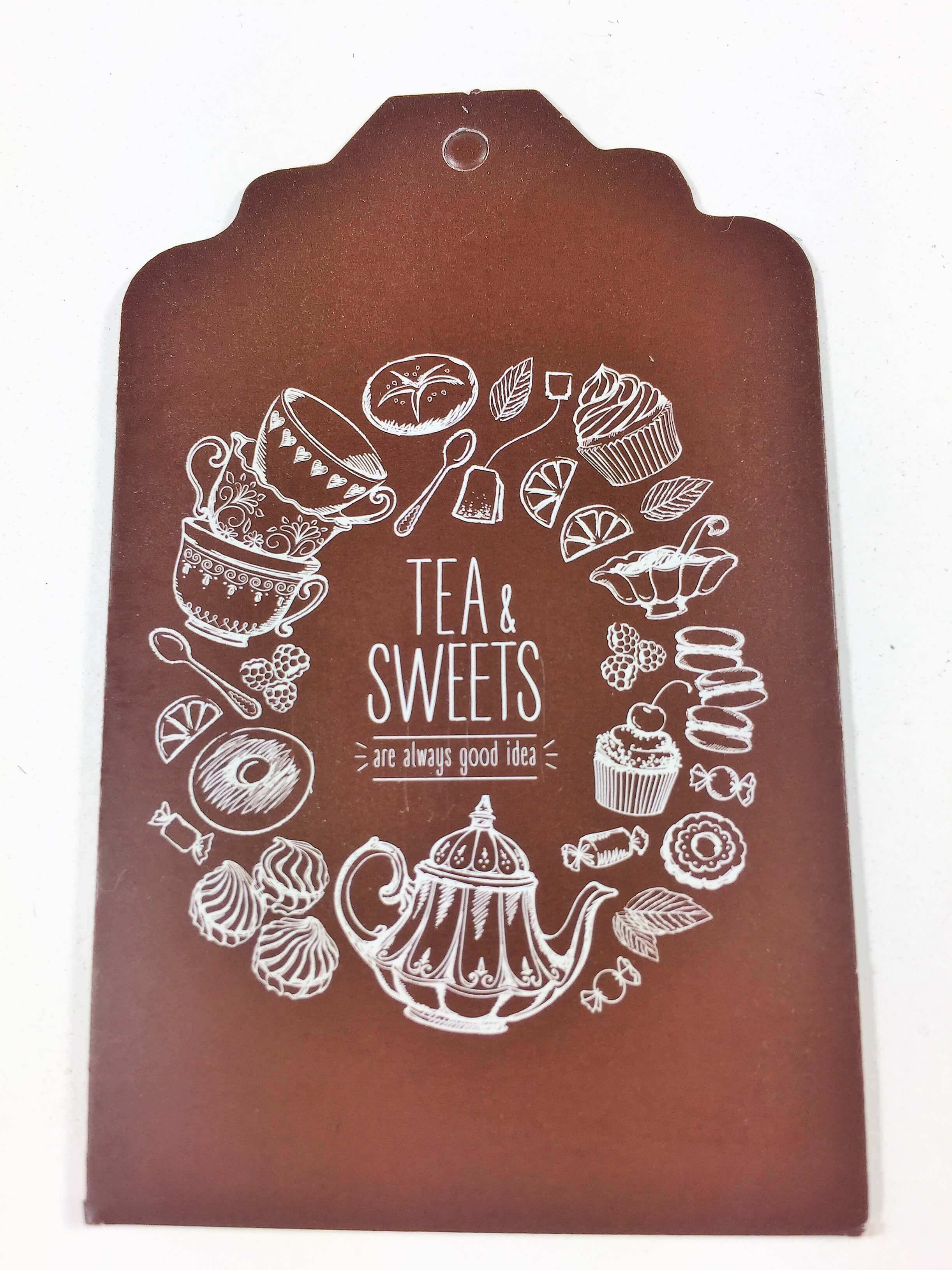 Tea & Sweets - Brown with white text