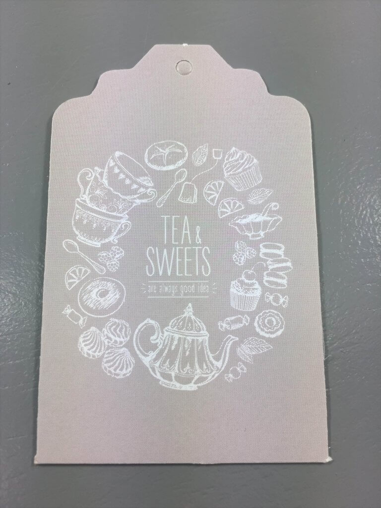 Tea & Sweets - Fawn with White Text