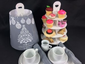 Generic Print 4 Tier Afternoon Tea Caddy