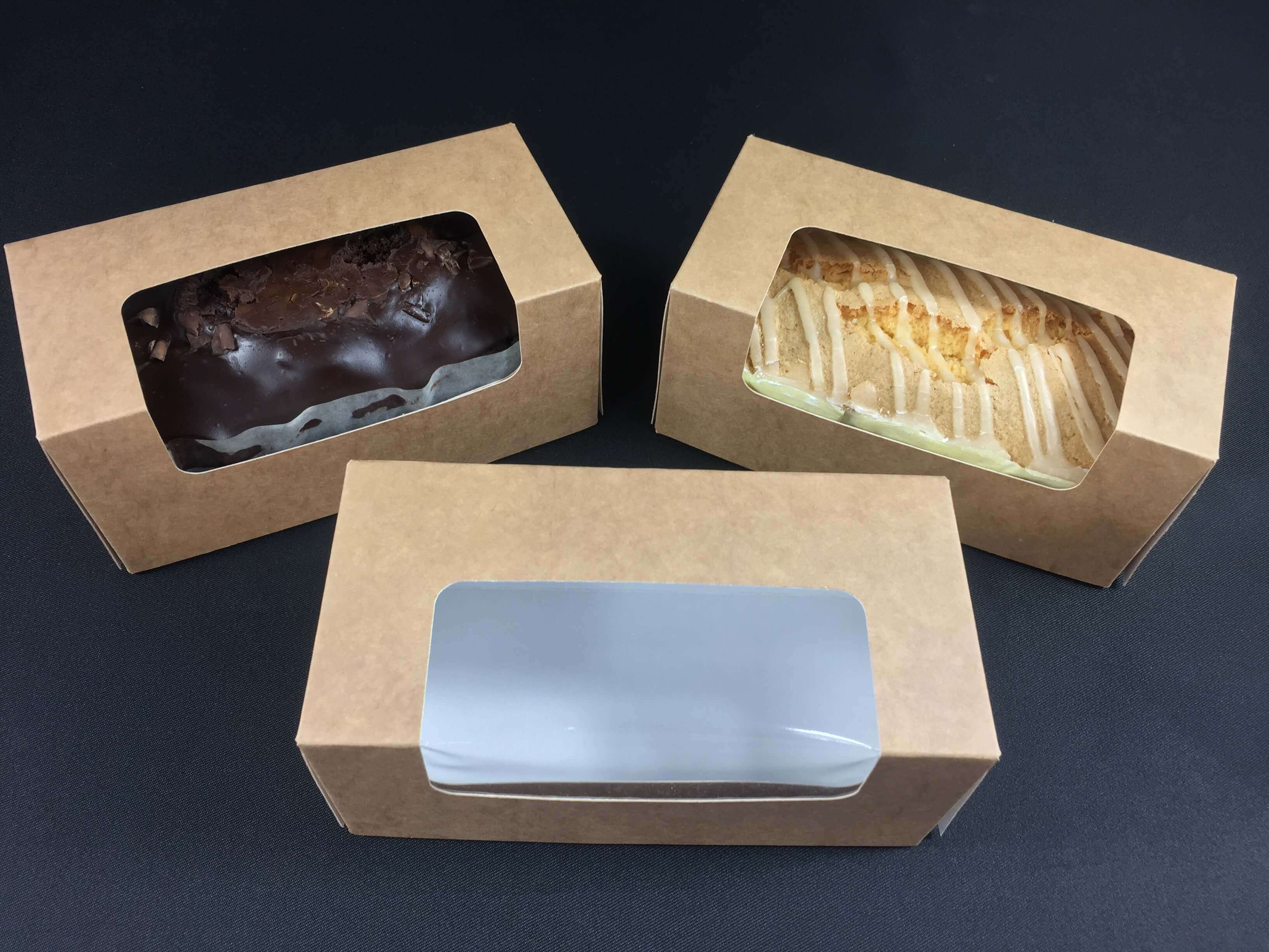 Loaf Cake Boxes Fully Compostable Board & Window
