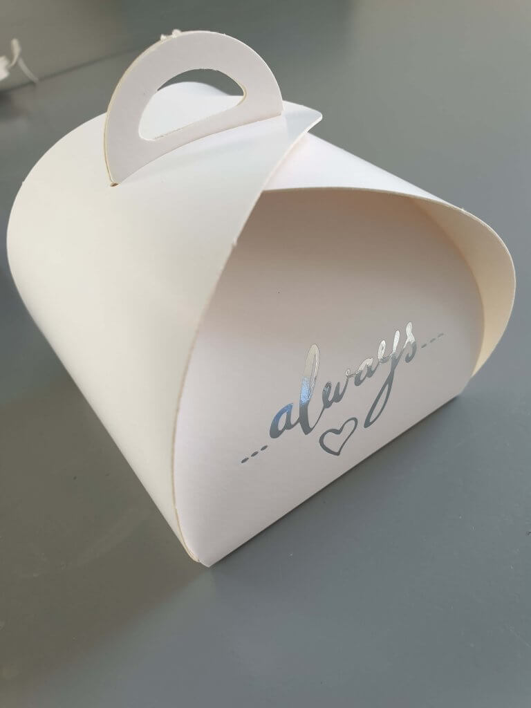 Small Patisserie Box Plain White with Foiling