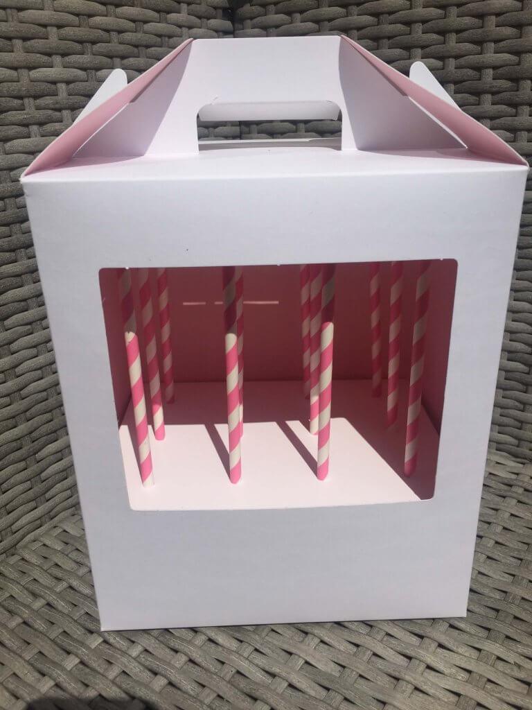 White Cake Pop Box
