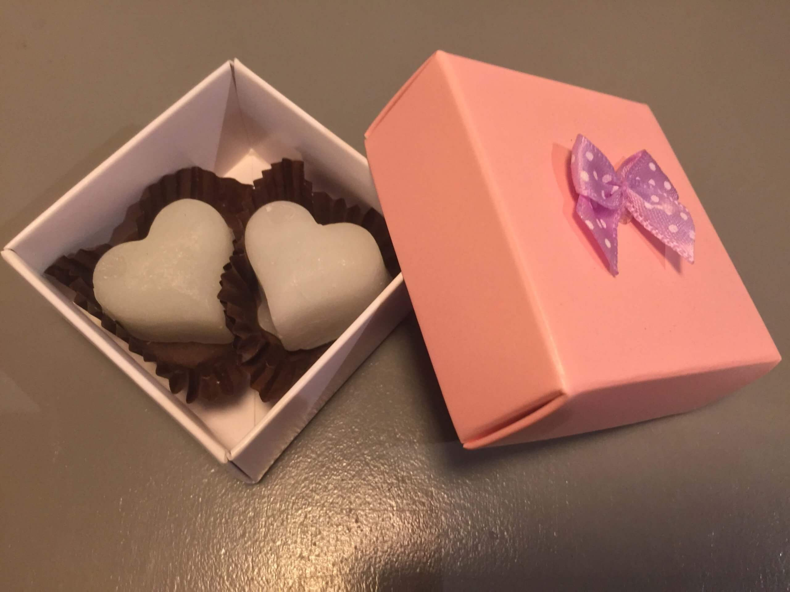White Base & Pink Lid Gift Box