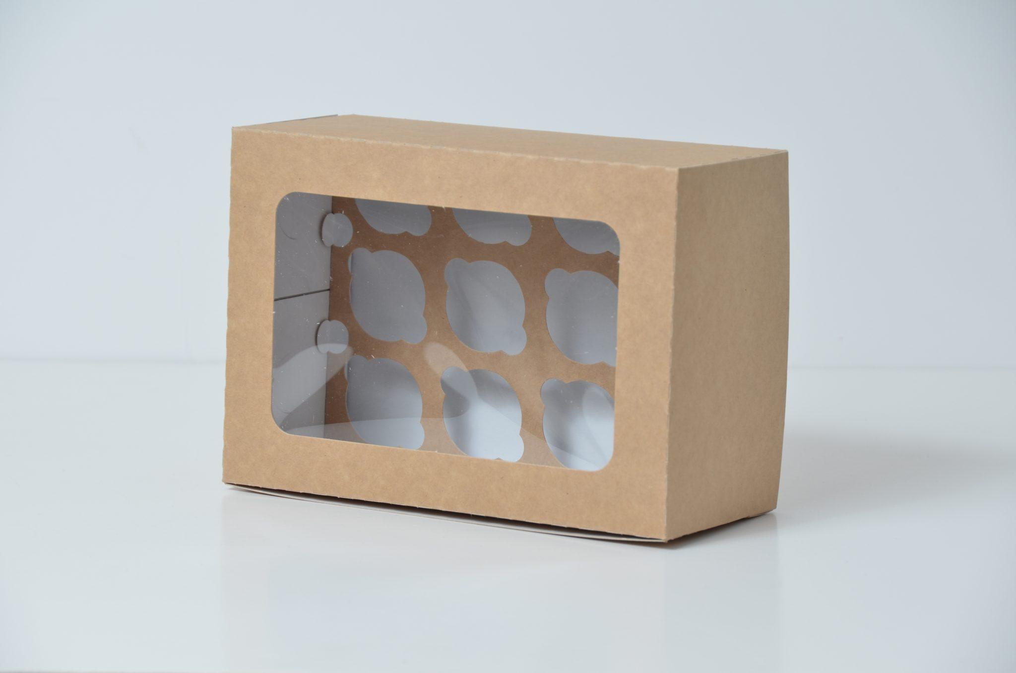 Kraft Deep 12 Pack Cup Cake Box