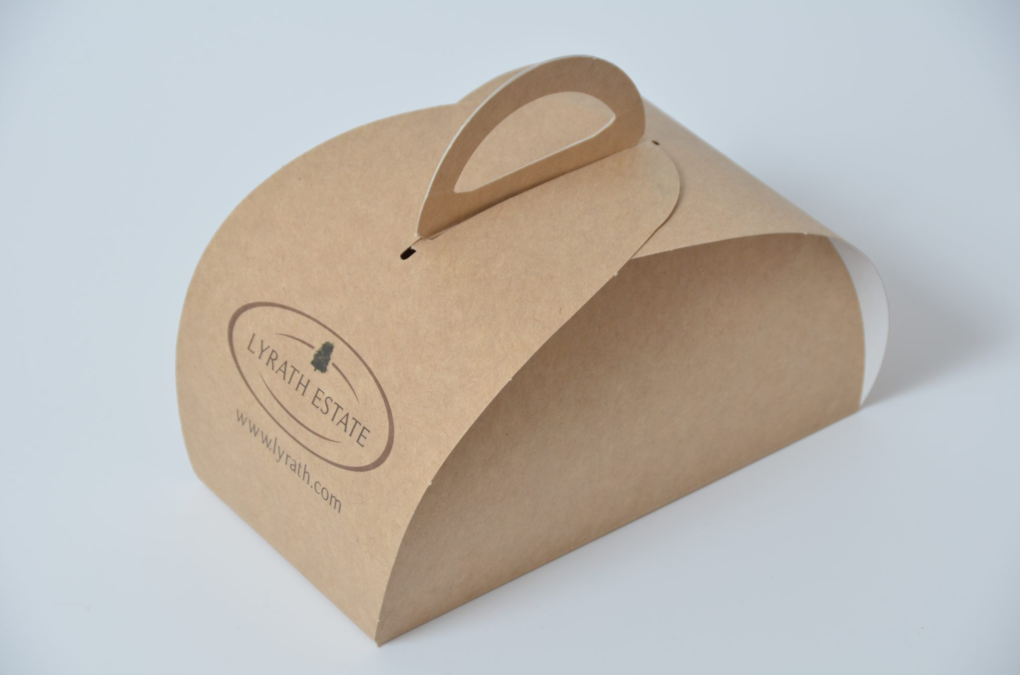 Kraft Bespoke Printed 2 Pk Patisserie Box & Tag