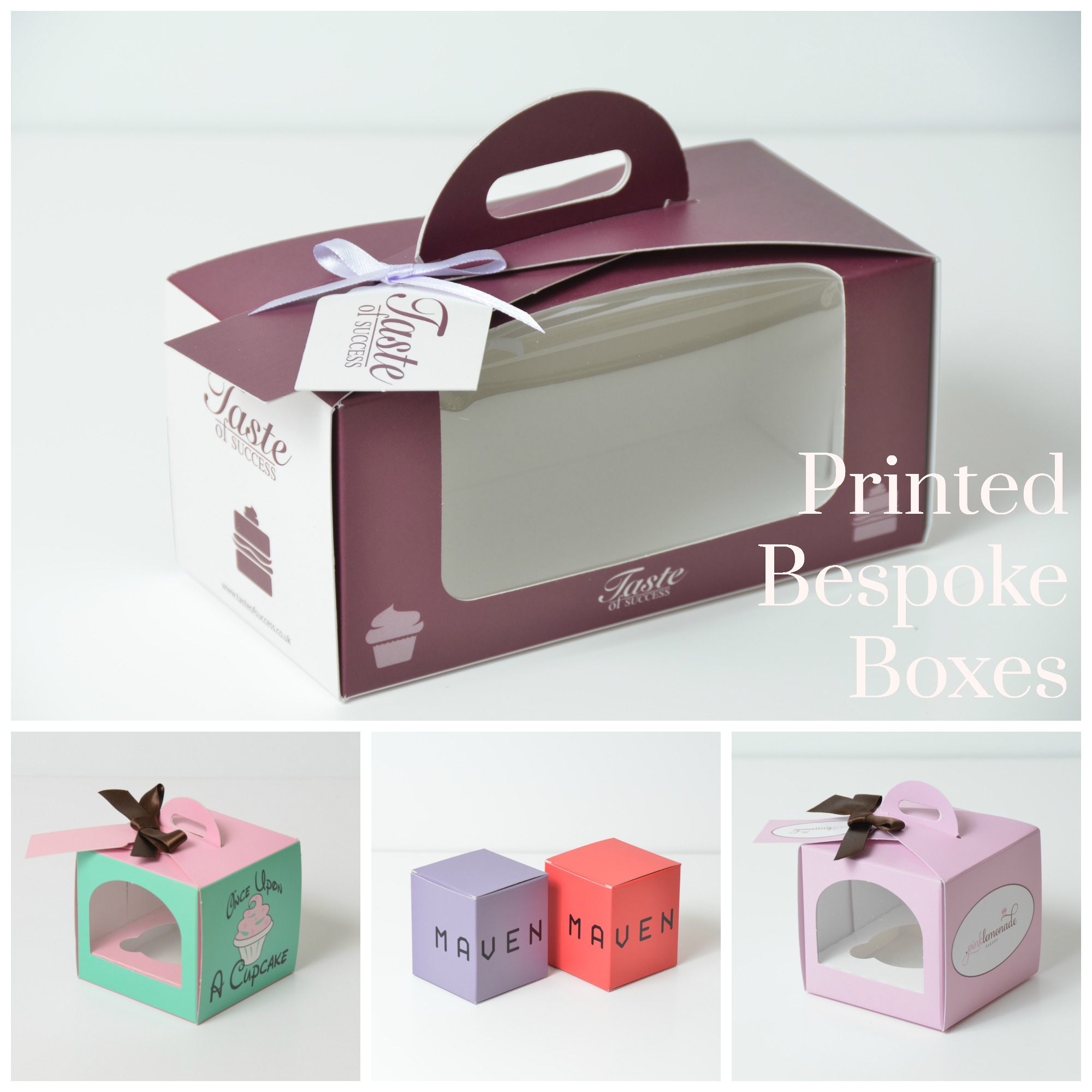 Bespoke Printed Eco Dome Single & Double Cup Cake Boxes