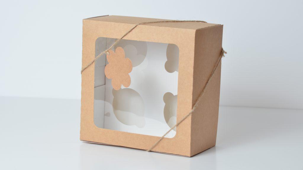 Kraft Deep 4 Pack Cup Cake Box